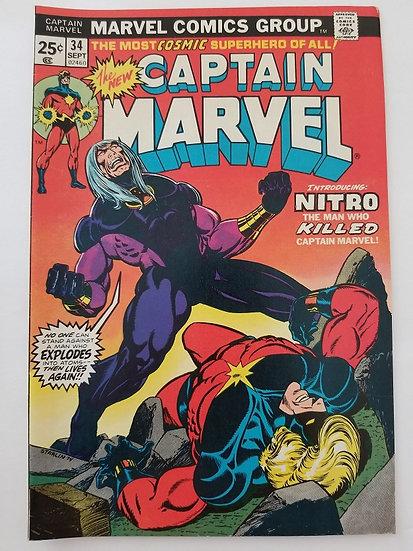 Captain Marvel (1968 1st Series Marvel) #34 VF