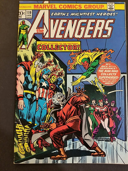 Avengers (Marvel ) #119 VF[Collector Appearanc VF. Collector Appearance.