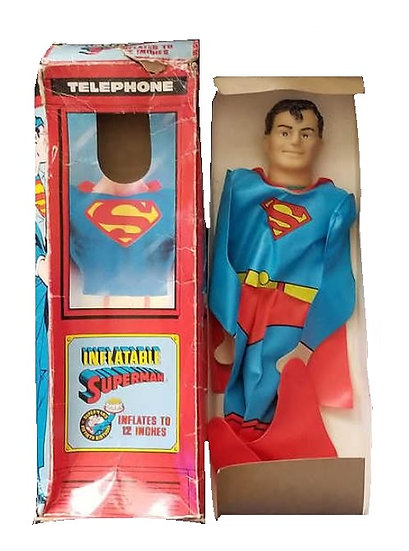 "1987 Imperial Inflatable Superman 12"" is mint in the box and still attached."