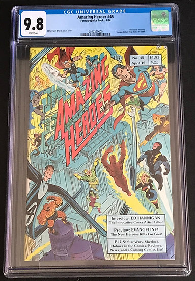 Amazing Heroes 45 CGC 9.8 White Pages