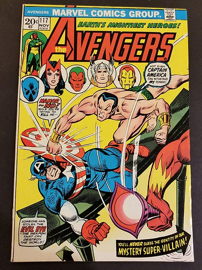 Avengers 117 VF. Sub-Mariner appearance.