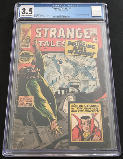 Stranger Tales 131 CGC 3.5 Cream To Off White Pages