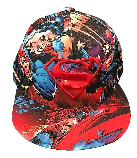 Superman Dc Allover Snap Back Hat