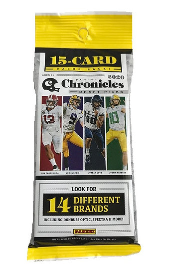 2020 Panini Chronicles Draft Picks Football Fat Pack