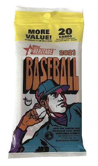2021 Topps Heritage Baseball Fat Pack