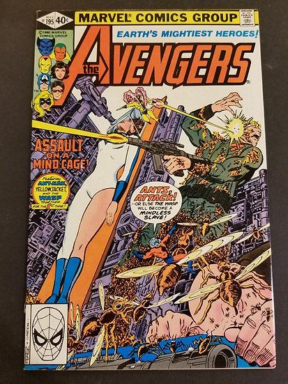 Avengers 195 VF/NM. 1st cameo of Taskmaster.