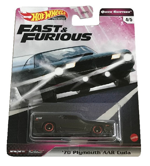 Hot Wheels Quick Shifters Fast & Furious '70 Plymouth AAR Cuda