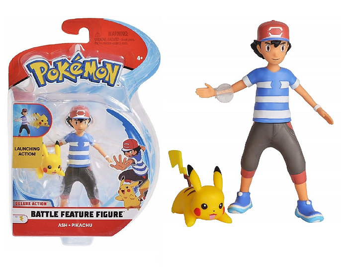 Pokemon Ash And  Pikachu With Launching Action Battle Feature Action Figure