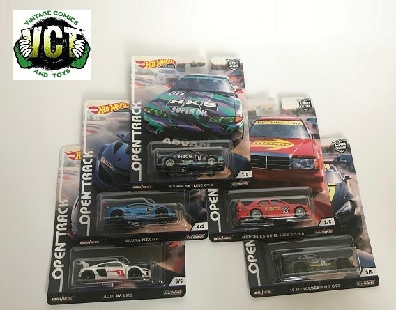 Hot Wheels 2019 Car Culture Open Track Series Set of 5 - Asst. FPY86 New Sealed