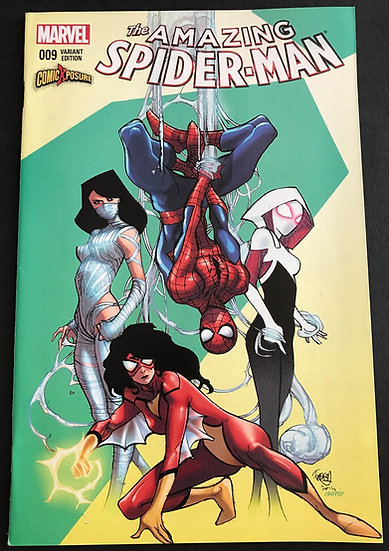 Amazing Spider-Man 9 Pasquale Ferry ComicXposure Variant Cover NM