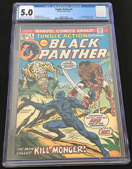 Jungle Action #6 (Marvel) CGC 5.0 Cream To Off-White Pages