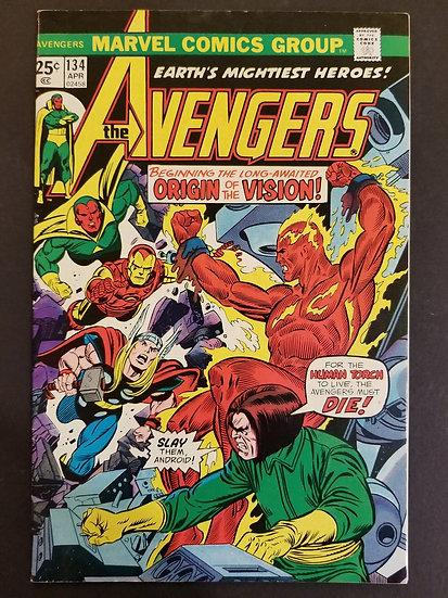 Avengers 134 VF-. Origin of Vision.
