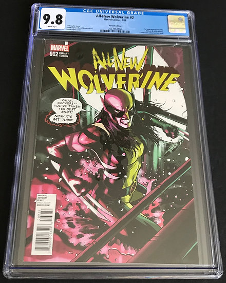 All New Wolverine (Marvel ) #2 CGC 9.8 White Pages [Variant Edition]
