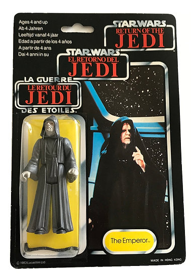 1983 Palitoy Star Wars TRI-Logo The Emperor ROTJ 77-Back MOC