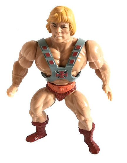 1981 Vintage MOTU He-Man Soft Head By Mattel [No Weapon]