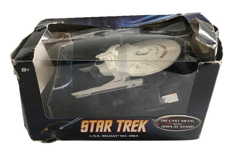 2008 Star Trek U.S.S. Reliant NCC-1864 Die Cast Metal With Display Stand