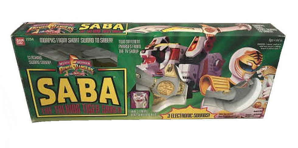 1994 Mighty Morphin Power Rangers SABA The Talking Tiger Saber Figure