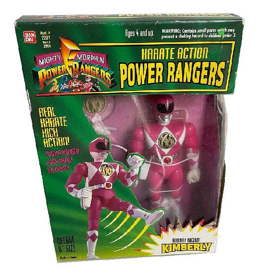 """1994 Karate Action Power Rangers 8"""" Pink Ranger Kimberly Set"""