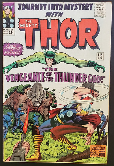 Thor (1962-1996 1st Series Journey Into Mystery) #115 FN Detailed Origin of Loki
