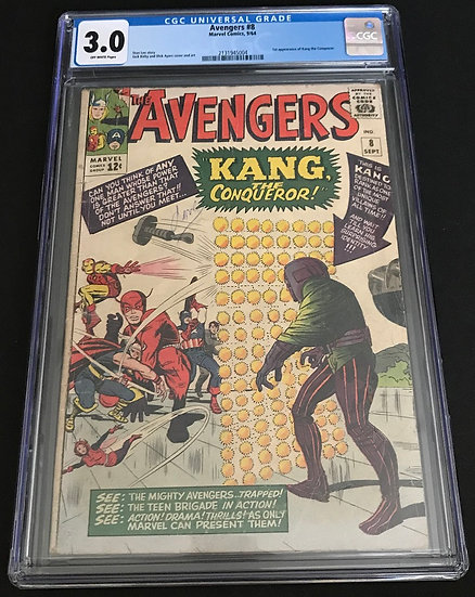 Avengers 8 CGC 3.0 Off-White Pages
