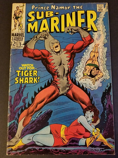 Sub-Mariner 5 VG/FN 1st Appearance of Tiger Shark