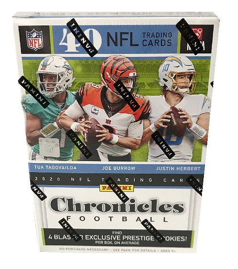 2020 Chronicles NFL Trading Cards Blaster Box Box