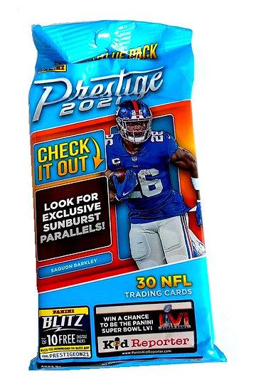 2021 Panini Prestige NFL Football Cello Fat Pack