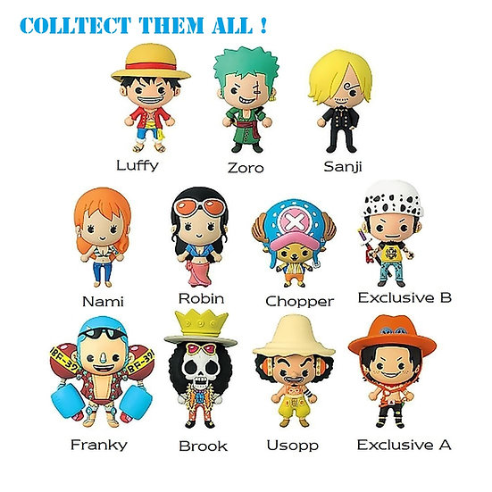 Shonen Jump One Piece 3-D Figural Bag Clip