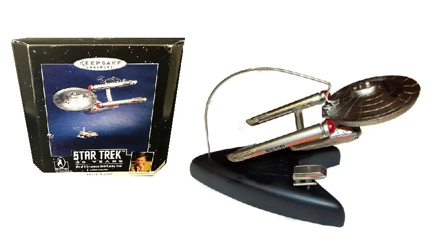 1996 Hallmark Keepsake Ornament Star Trek 30 Years Set Of 2 Ornaments