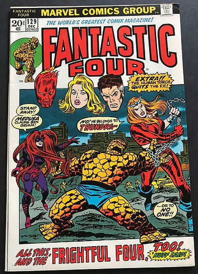 Fantastic Four (1961 1st Series) #129 VF+ [1st appearance of Thundra.]