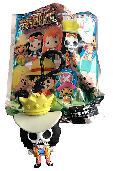 Shonen Jump One Piece Brook 3-D Figural Bag Clip