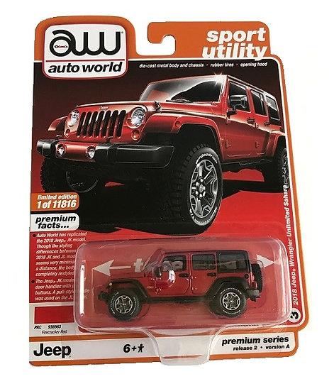 Auto World  2018 Jeep Wrangler Unlimited Sahara Truck