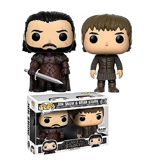Funko Pop Game Of Thrones John Snow And Bran Stark 2 Pack Bam Exclusive