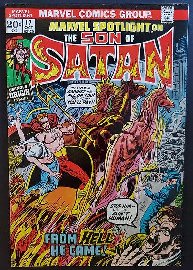 Marvel Spotlight 12 VF- Foxing [1st Son Of Satan]