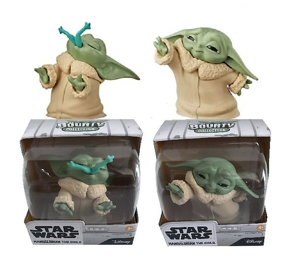 Star Wars The Mandalorian Baby Bounties Frog And Force Mini-Figures[SOLD AS SET]