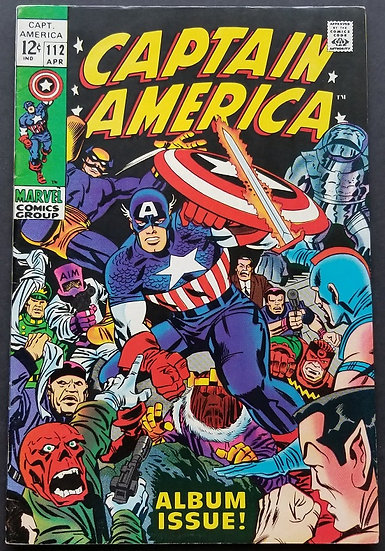 Captain America 112 VF+. Career of Captain America Retold. Iron Man appearance