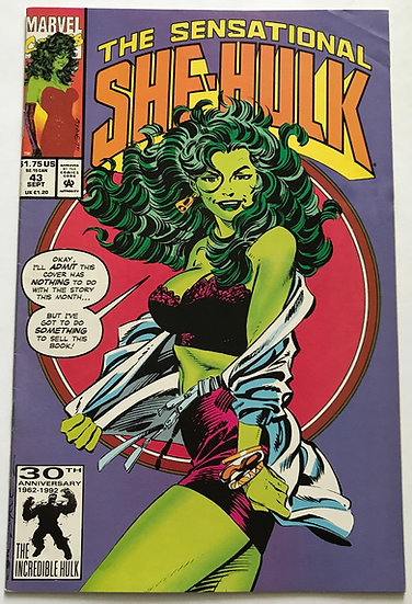 Sensational She-Hulk (Marvel) #43 VG/FN [H2O]