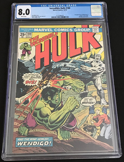 Incredible Hulk (1962-1999 1st Series) #180 CGC 8.0 White Pages