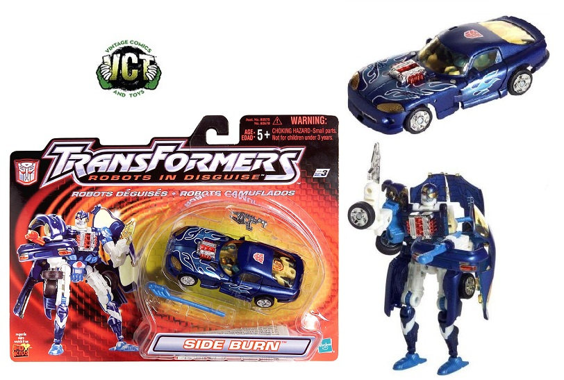 2001Transformers Robots In Disguise Series Autobot Strong-Armed Fighter Sideburn