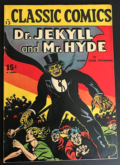 Classics Illustrated 013 Dr. Jekyll and Mr. Hyde (1943) #1 FN-