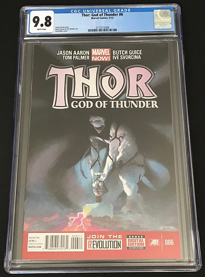 Thor God of Thunder (2012) #6 CGC 9.8 White Pages
