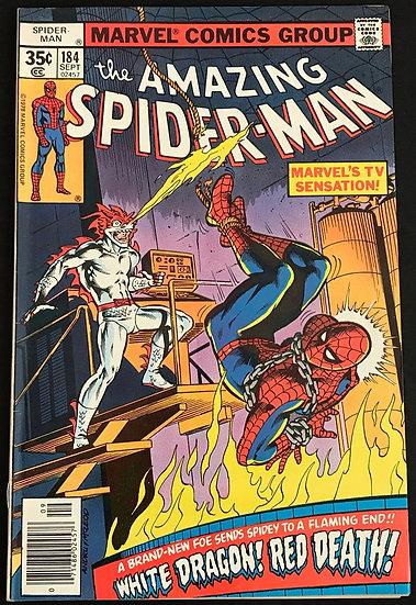 Amazing Spider-Man (Marvel) #184 VF [1st White Dragon]