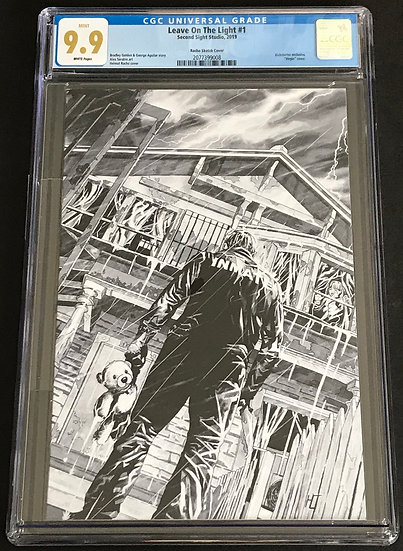 Leave On The Light 1 Racho Sketch Cover CGC 9.9 White Pages