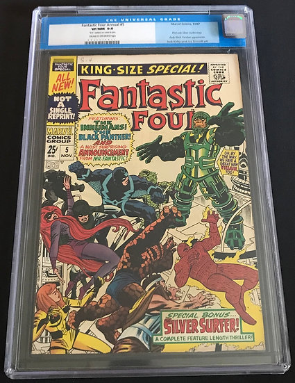 Fantastic Four Annual #5 CGC VF/NM 9.0 Cream To Off-White Pages
