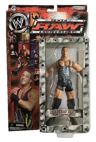 2003 WWE RAW Tenth Anniversary Wrestling Action Rob Van Dam Wrestling Figure