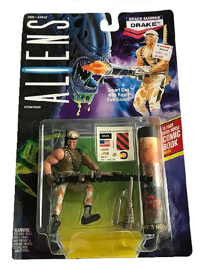 1992 Aliens Space Marine Drake Action Figure By Kenner