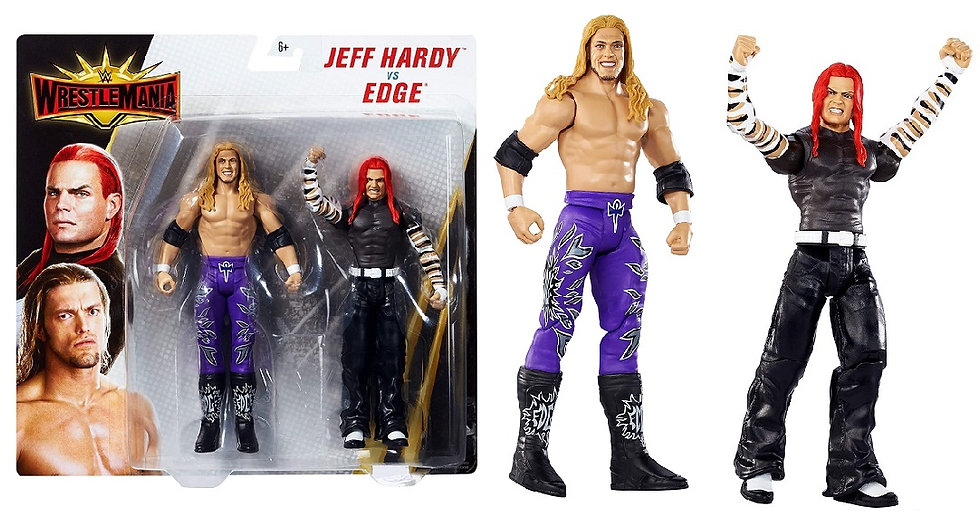 WWE WrestleMania Jeff Hardy Vs Edge 2-Pack Wrestling Figure