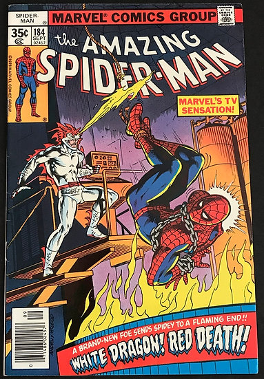Amazing Spider-Man (1963 1st Series) #184 NM- [1st White Dragon]