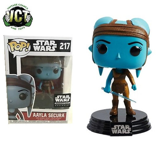 Funko Pop Star Wars Aayla Secura 217 Star Wars Smuggler's Bounty Exclusive