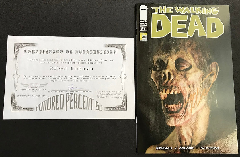 Walking Dead (Image) #87 NM/MT [SDCC Exclusive/Signed By Robert Kirkman]